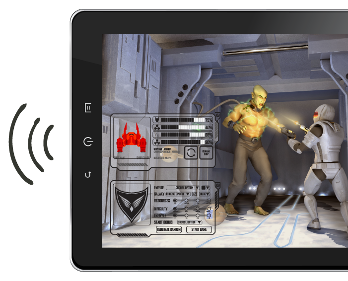 Mobile Wi Fi Tablet Game